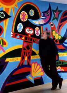 La fresque peinte par Jacques Auriac à l'école