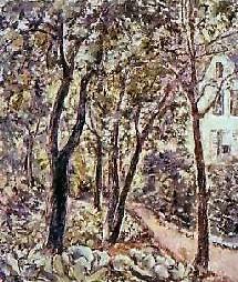 Le jardin de la famille Bergevin peint par l'artiste