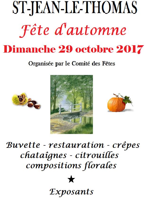 Fête d'automne 2017 : le programme
