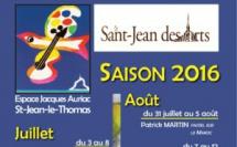 Saint Jean des Arts : Saison 2016