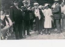 1935 : baptème d'un canot de la station.