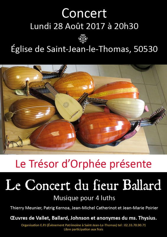 """Concert de musique baroque : """"Le Concert du Sieur Ballard"""""""