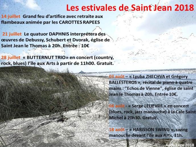 Les Estivales de Saint Jean le Thomas 2018