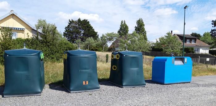 Le nouvel emplacement des containers route Saint-Michel