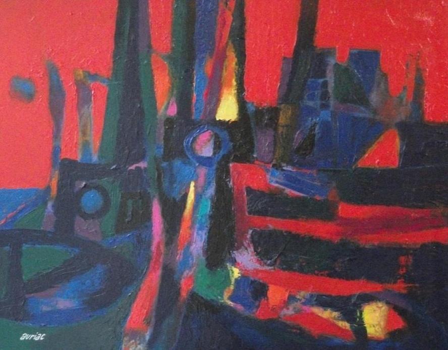 Auriac : le Port, Ciel Rouge
