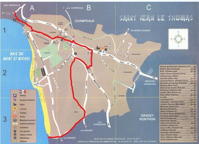 GR 223 : modification du tracé dans Saint Jean le Thomas