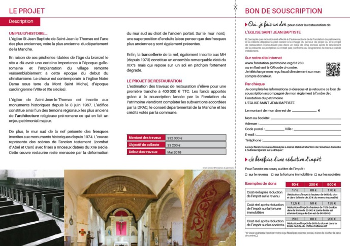 Travaux de restauration de l'église Saint-Jean-Baptiste