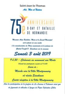 Retour sur le 75 ème anniversaire de la présence d'Eisenhower à Saint-Jean-le-Thomas