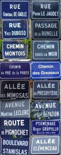 Les noms des voies de Saint Jean le Thomas