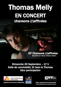 Thomas Melly en concert à Saint Jean le Thomas