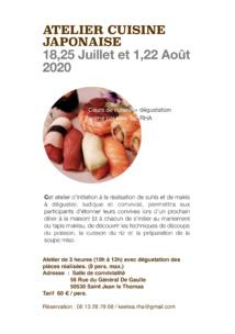 Atelier de cuisine japonaise à Saint-Jean-le-Thomas