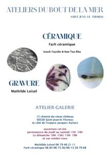 Gravure et céramique à Saint-Jean-le-Thomas