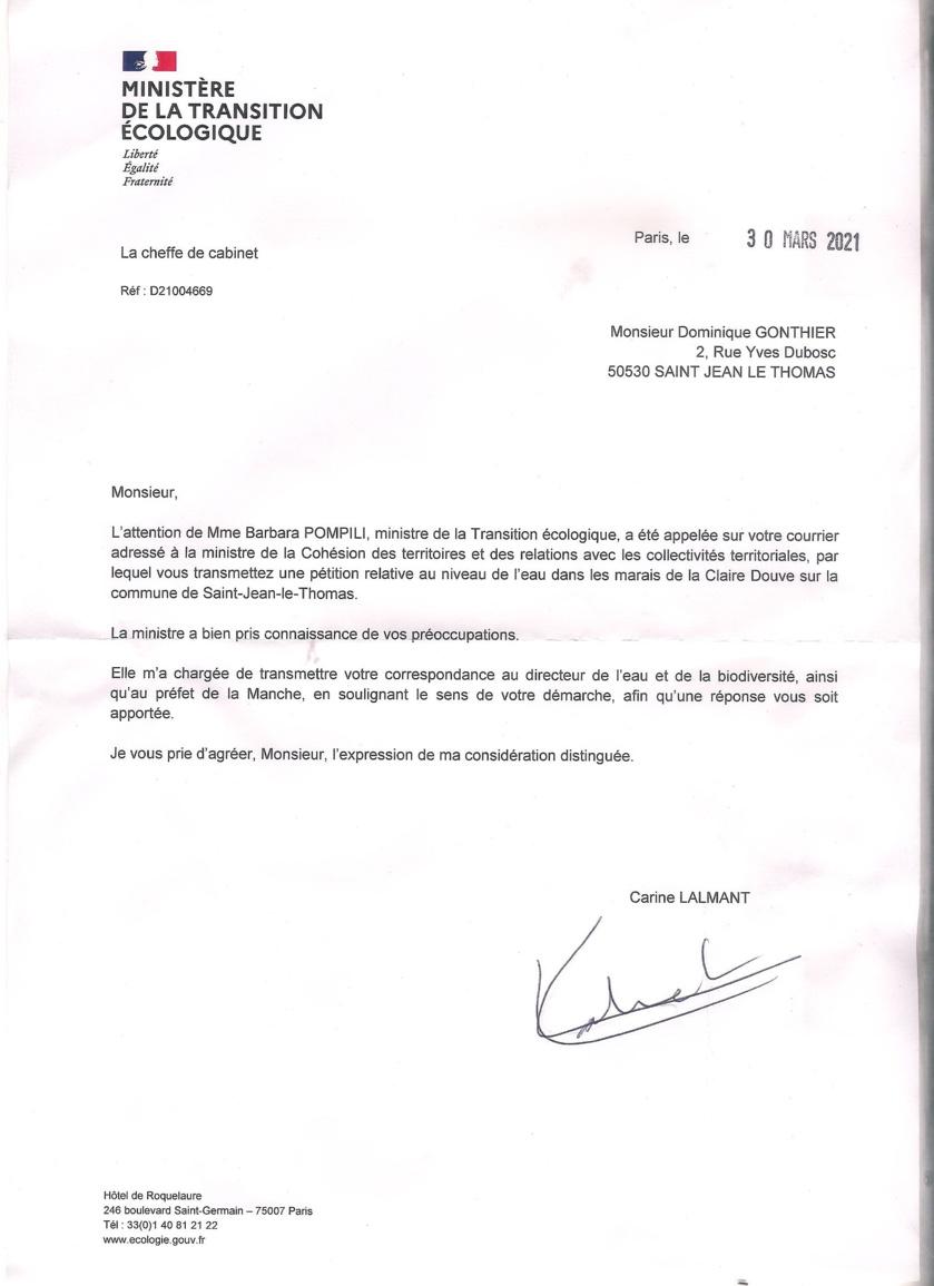 Pétition Citoyenne Inondation Marais de la Claire Douve (MAJ 13/10/2021)
