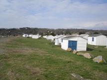 Les cabines de plage à Pignochet