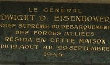 la plaque apposée sur la façade de Montgomery