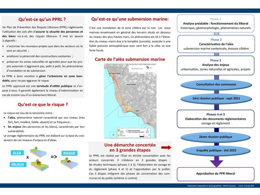 Plan de Prévention des Risques Littoraux (PPRL) - Réunion Publique le 9 septembre 2021