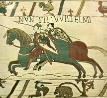 Guillaume le conquérant représenté sur la tapisserie de Bayeux