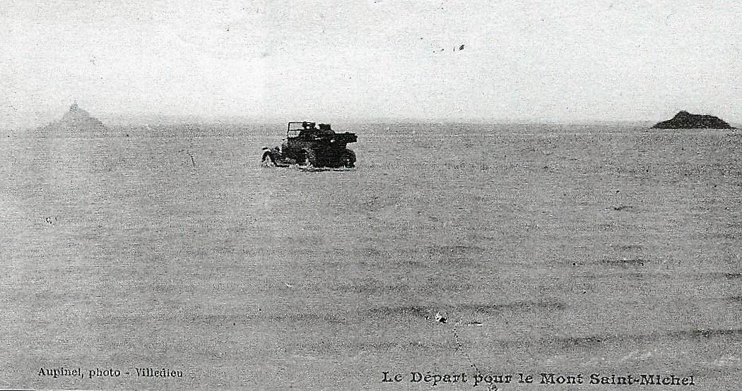 Le départ pour le Mont saint Michel