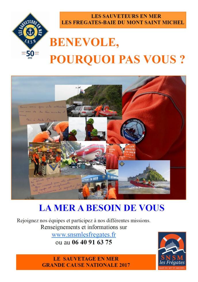 """Les Sauveteurs en Mer de la station """" Les Frégates-Baie du Mont Saint Michel"""""""