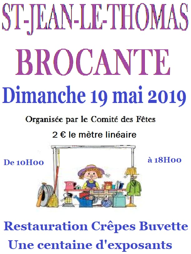 Brocante 2018 Saint Jean le Thomas