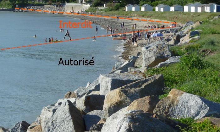 Interdiction temporaire de la baignade à la Cale Saint Michel