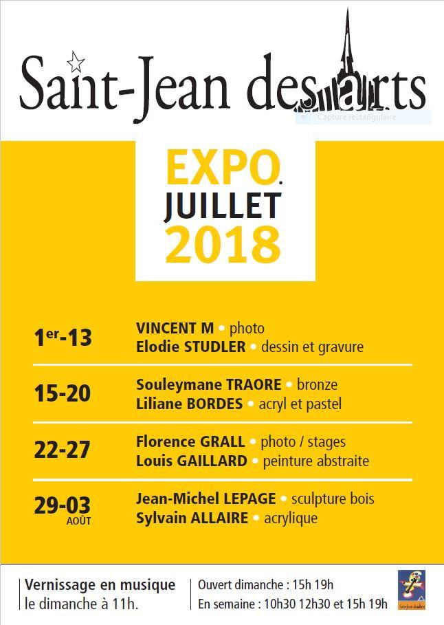 Saint Jean des Arts : Saison 2018