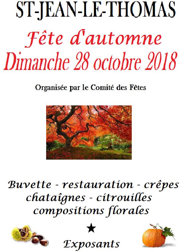 Fête d'automne 2018 : le programme