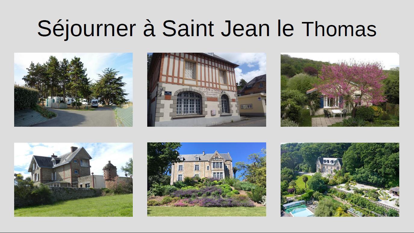 Hébergements à Saint Jean le Thomas et environs immédiats