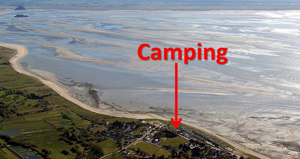 Camping de la baie St Jean Le Thomas - Emplacements de mobil-home à louer.