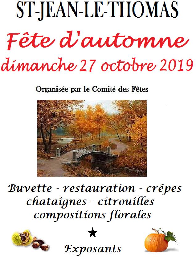 Fête d'automne 2019 : le programme