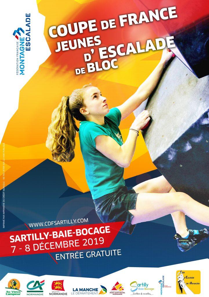 Coupe de France jeunes d'escalade de blocs à Sartilly-Baie-Bocage