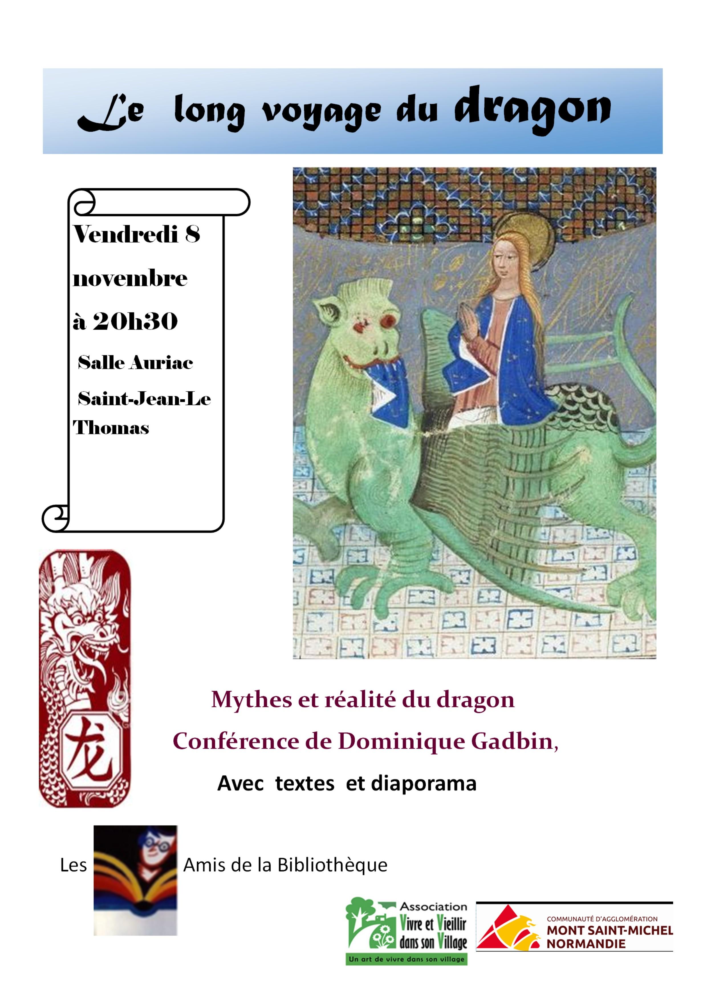 """Conférence : """"Le long voyage du dragon."""""""