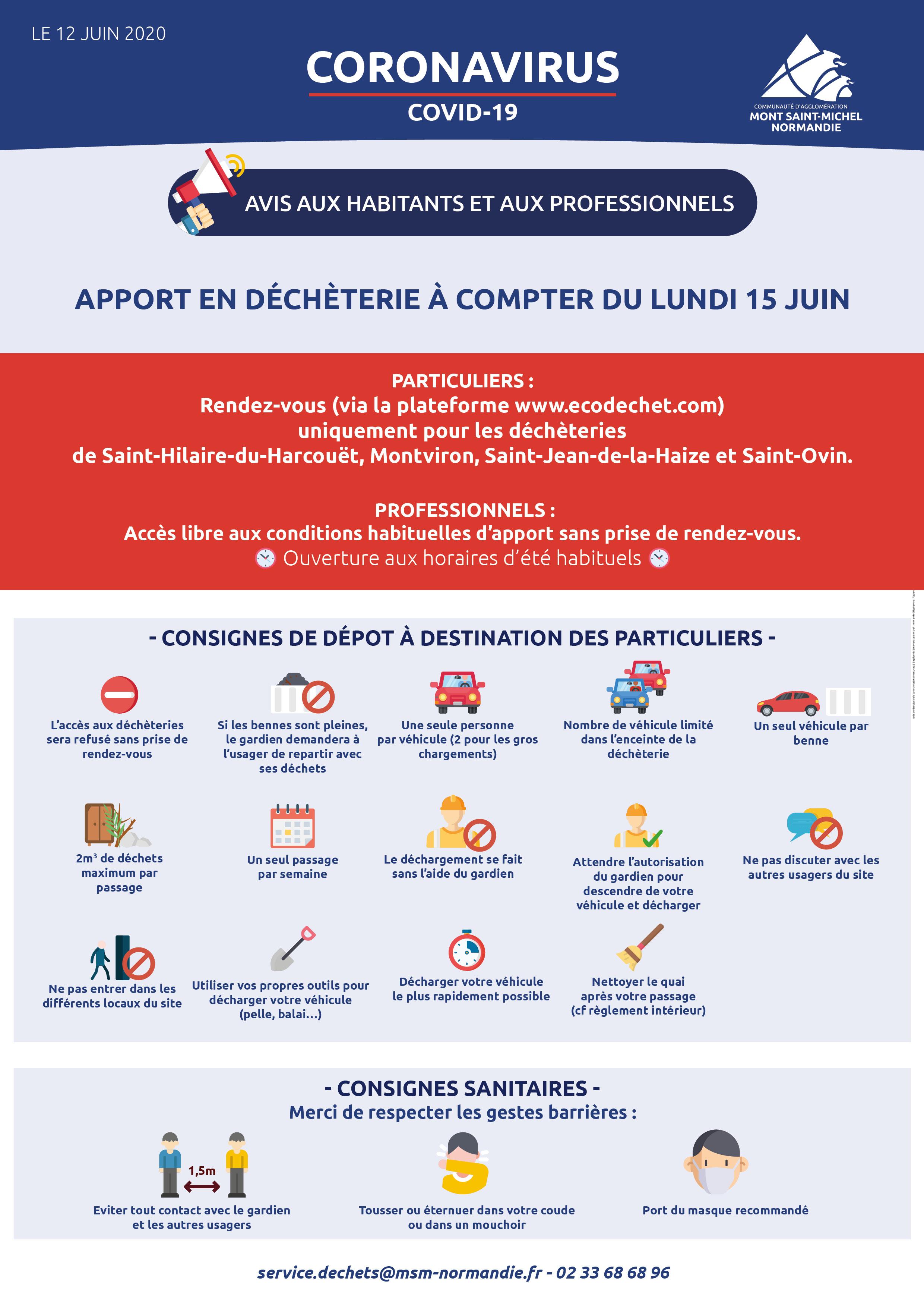 Informations de la Communauté de Communes (MAJ 12/06) -décheteries