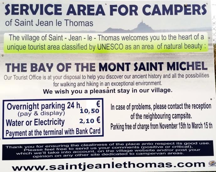 Accueil des Camping-Cars