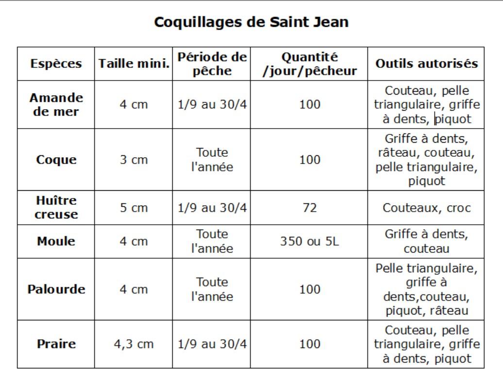 Pêche à pied des coquillages à Saint Jean