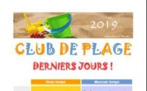 Club de plage : programme du 22 au 26 juillet