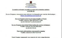 Covid-19 : Informations municipales  (MAJ 08/04)