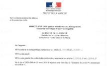 Covid-19 : Informations préfectorales (MAJ 08/04-hébergements)