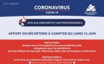 Déconfinement - Informations de la Communauté de Communes (MAJ 23/05) -décheteries